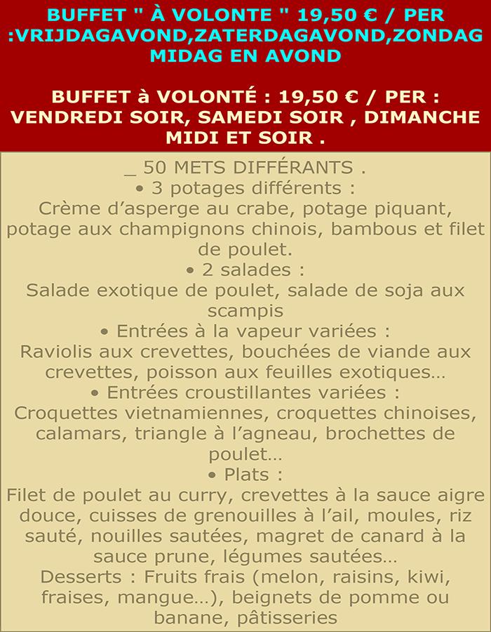 BUFFET.19,50 fr